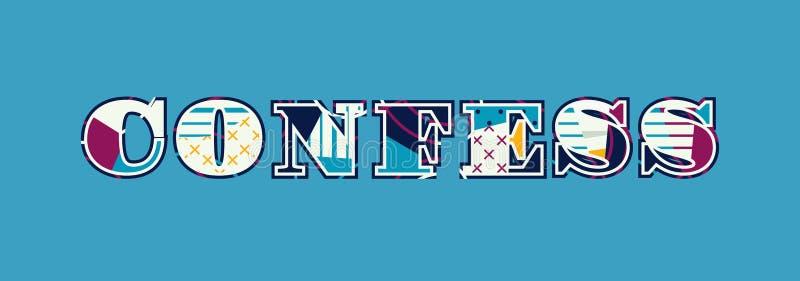 Admettez le concept Word Art Illustration illustration de vecteur