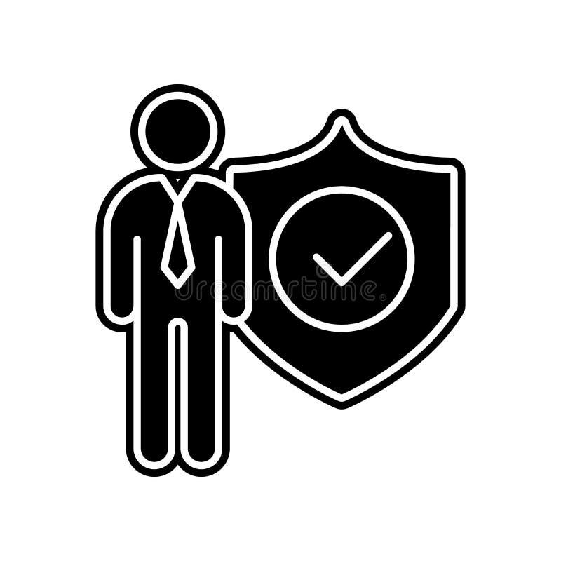Admin, εικονίδιο ασφάλειας Στοιχείο του γενικού προγράμματος στοιχείων για το κινητό εικονίδιο έννοιας και Ιστού apps Glyph, επίπ απεικόνιση αποθεμάτων