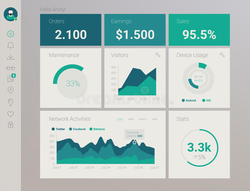 Admin App Dashboard royalty free stock images