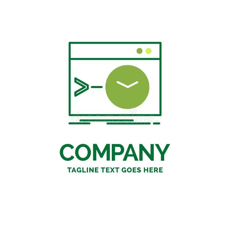 Admin, Befehl, Wurzel, Software, Anschluss flacher Geschäfts-Logo Temp lizenzfreie abbildung