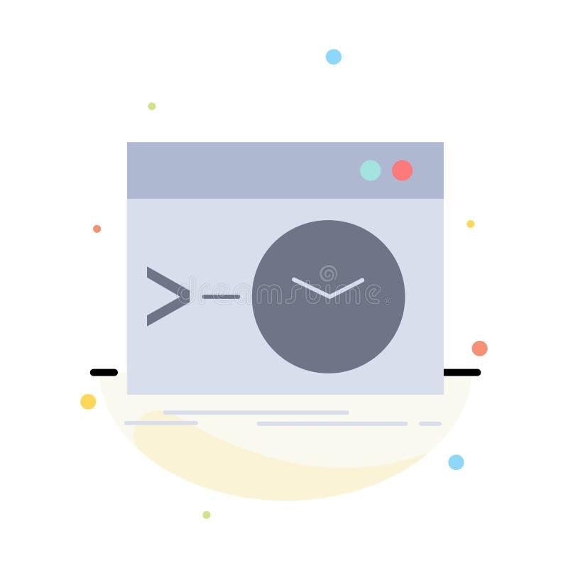 Admin, bevel, wortel, software, de eind Vlakke Vector van het Kleurenpictogram royalty-vrije illustratie