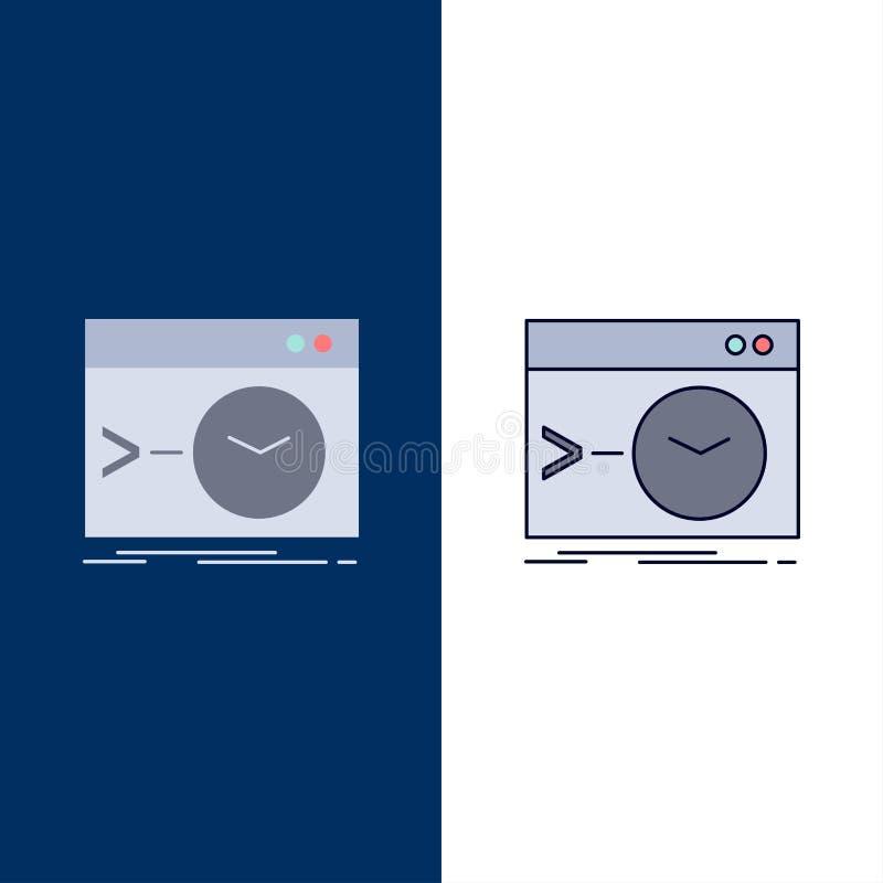 Admin, bevel, wortel, software, de eind Vlakke Vector van het Kleurenpictogram vector illustratie