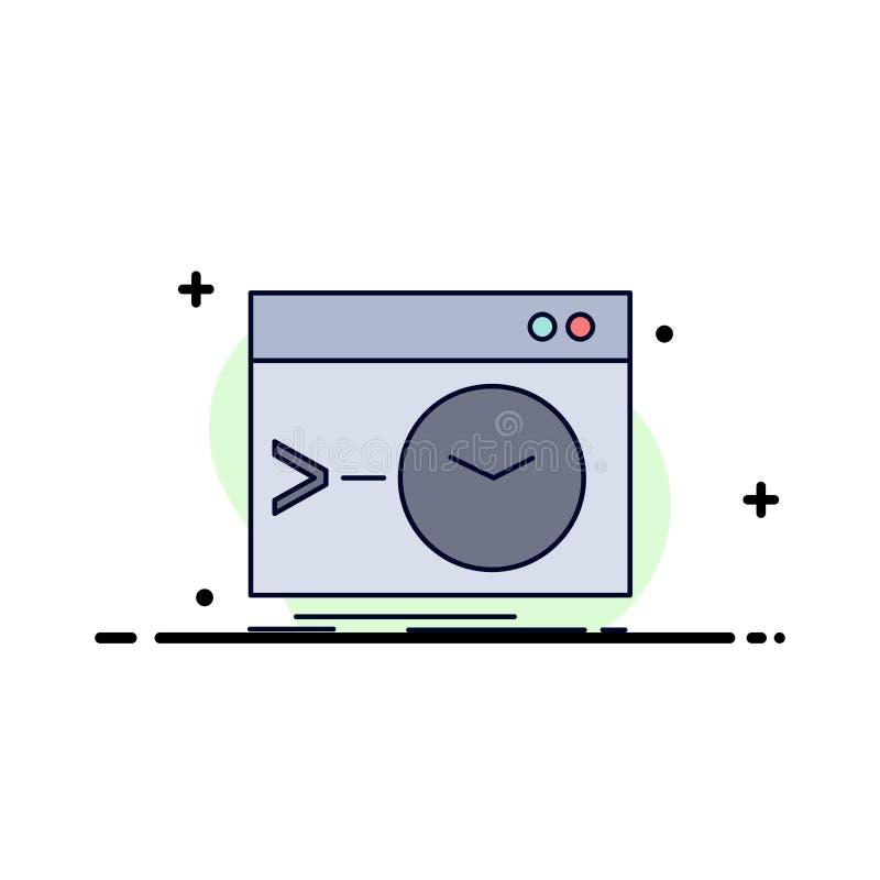 Admin, bevel, wortel, software, de eind Vlakke Vector van het Kleurenpictogram stock illustratie