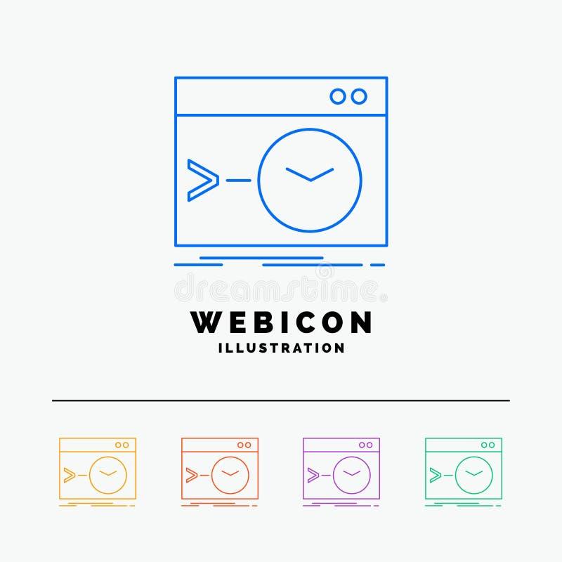 Admin, bevel, wortel, software, einddie 5 het Pictogrammalplaatje van het Rassenbarrièreweb op wit wordt geïsoleerd Vector illust vector illustratie