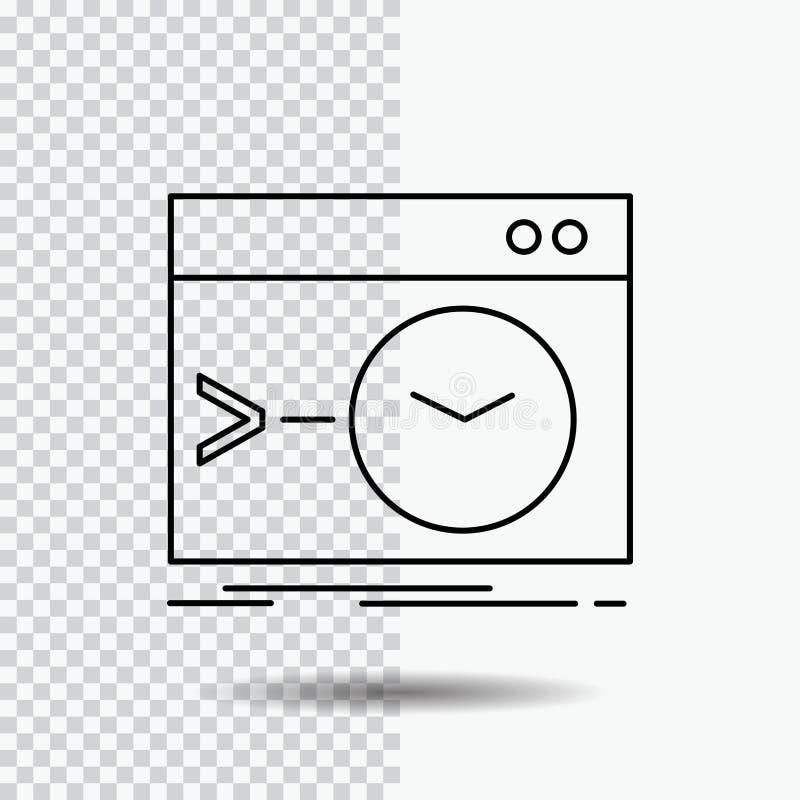 Admin, bevel, wortel, software, eindlijnpictogram op Transparante Achtergrond Zwarte pictogram vectorillustratie vector illustratie