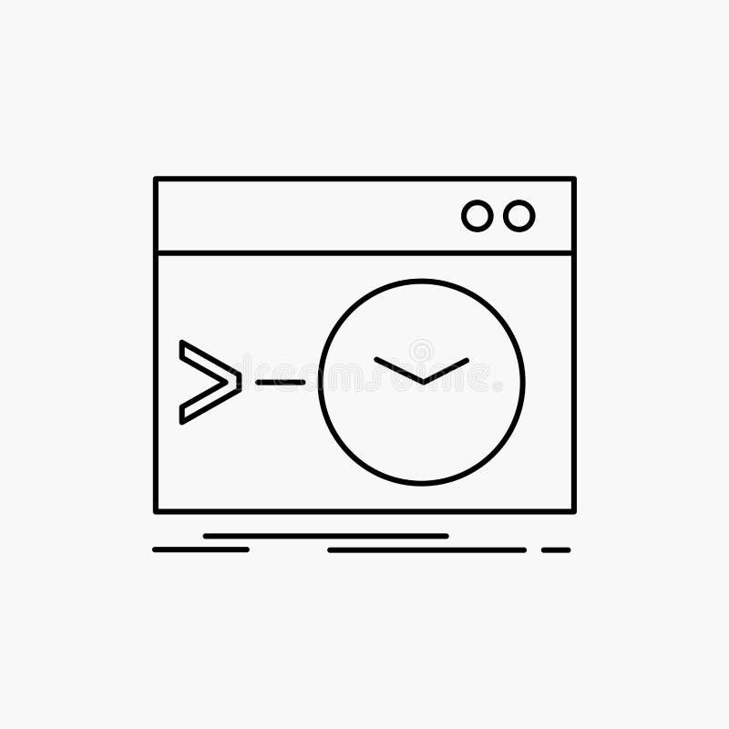 Admin, bevel, wortel, software, eindlijnpictogram Vector ge?soleerde illustratie royalty-vrije illustratie