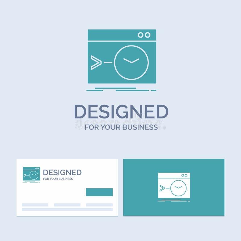 Admin, bevel, wortel, software, eindzaken Logo Glyph Icon Symbol voor uw zaken Turkooise Visitekaartjes met Merk vector illustratie