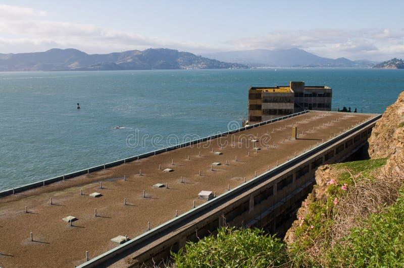Admin building. Administration building, Alcatraz Penitentiary, Alcatraz Island, San Francisco Bay, California royalty free stock photography