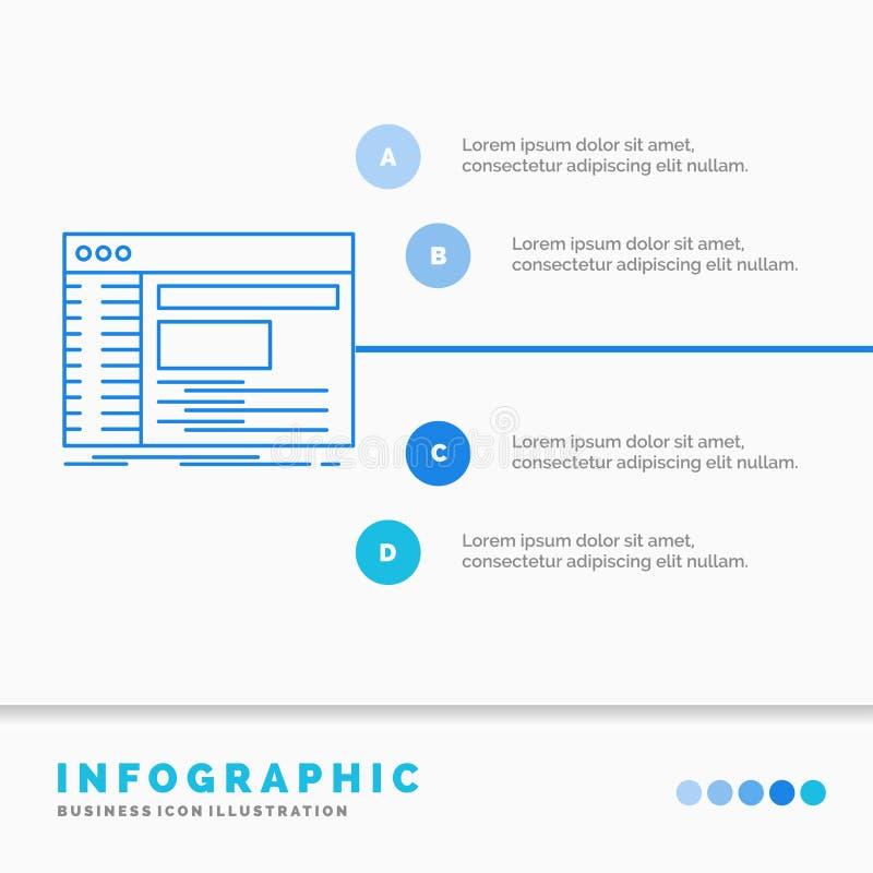 Admin, console, paneel, wortel, het Malplaatje van softwareinfographics voor Website en Presentatie Infographic de stijlvector va stock illustratie