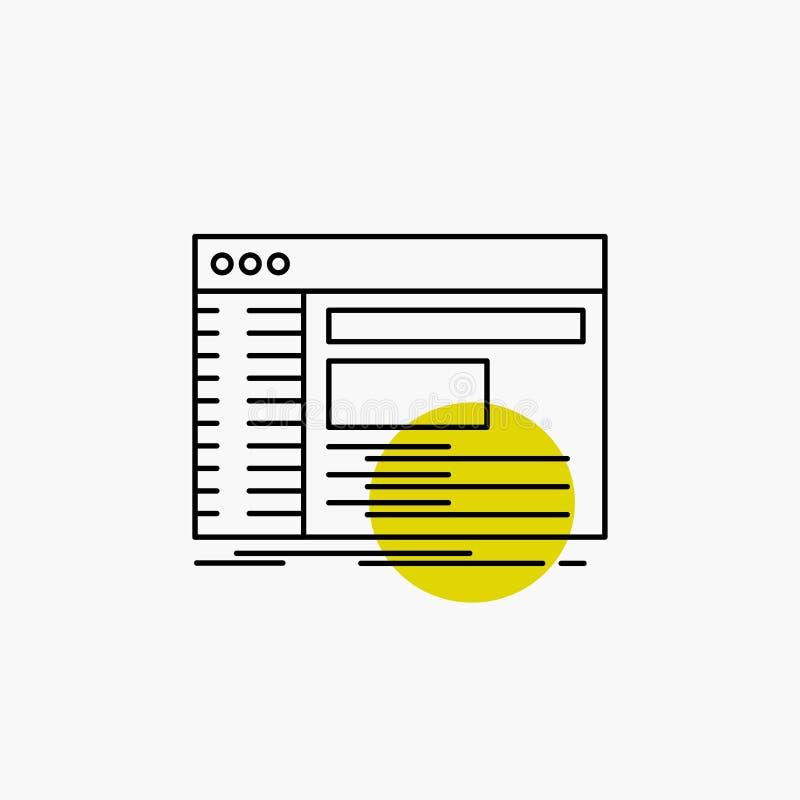 Admin, console, paneel, wortel, het Pictogram van de softwarelijn royalty-vrije illustratie