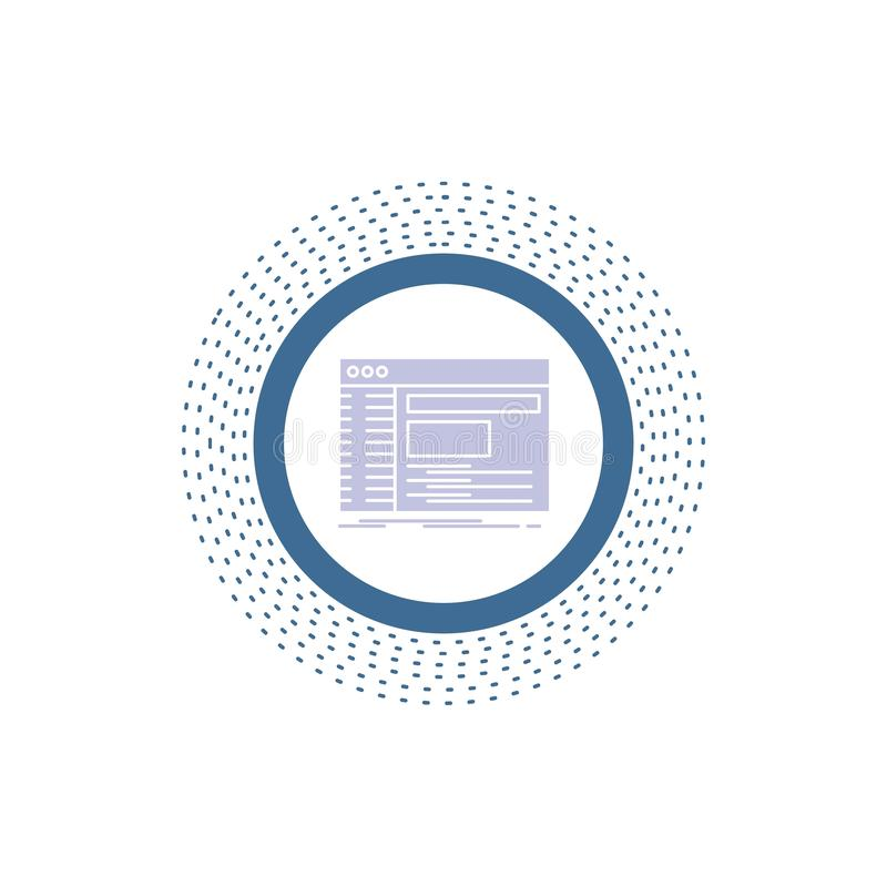 Admin, console, paneel, wortel, het Pictogram van softwareglyph Vector ge?soleerde illustratie royalty-vrije illustratie