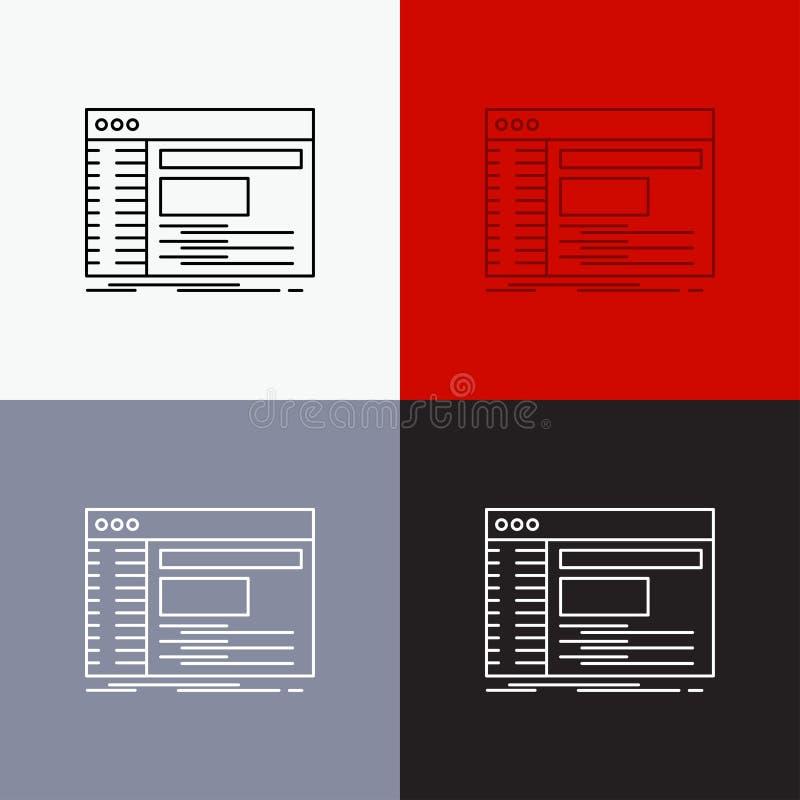 Admin, console, paneel, wortel, softwarepictogram over Diverse Achtergrond r EPS 10 vector royalty-vrije illustratie