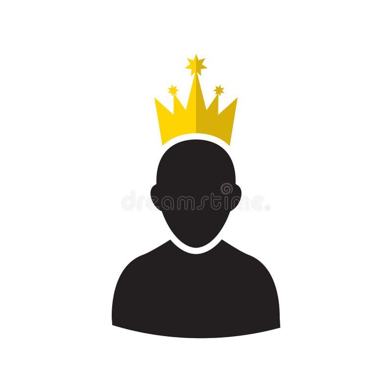 Admin met Gouden Kroonpictogram royalty-vrije illustratie