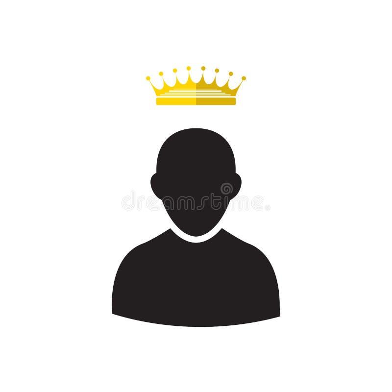 Admin met Gouden Kroonpictogram stock illustratie