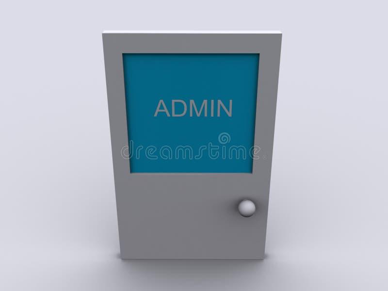 Admin office door vector illustration
