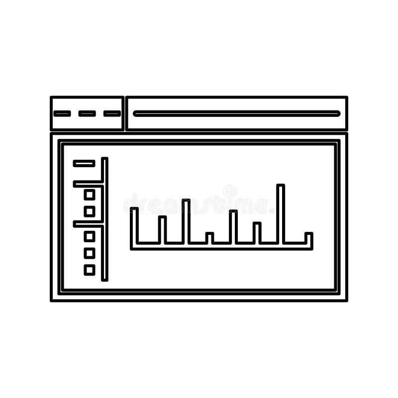 admin pulpitu operatora ikona Element cyber ochrona dla mobilnego pojęcia i sieci apps ikony Cienka kreskowa ikona dla strona int ilustracja wektor