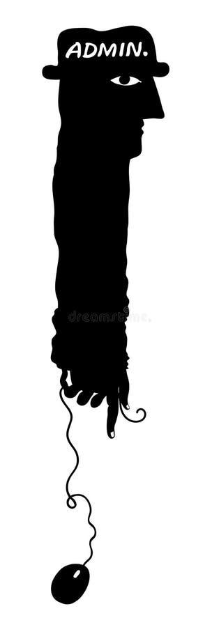 admin svalnar mussilhouetten stock illustrationer