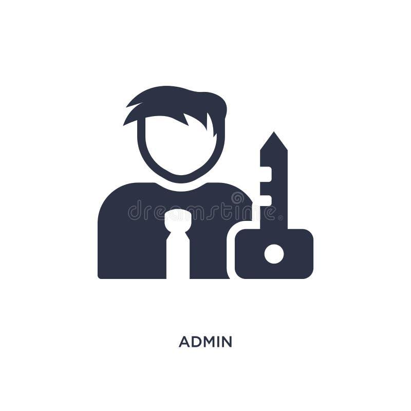 admin-symbol på vit bakgrund Enkel beståndsdelillustration från strategibegrepp royaltyfri illustrationer