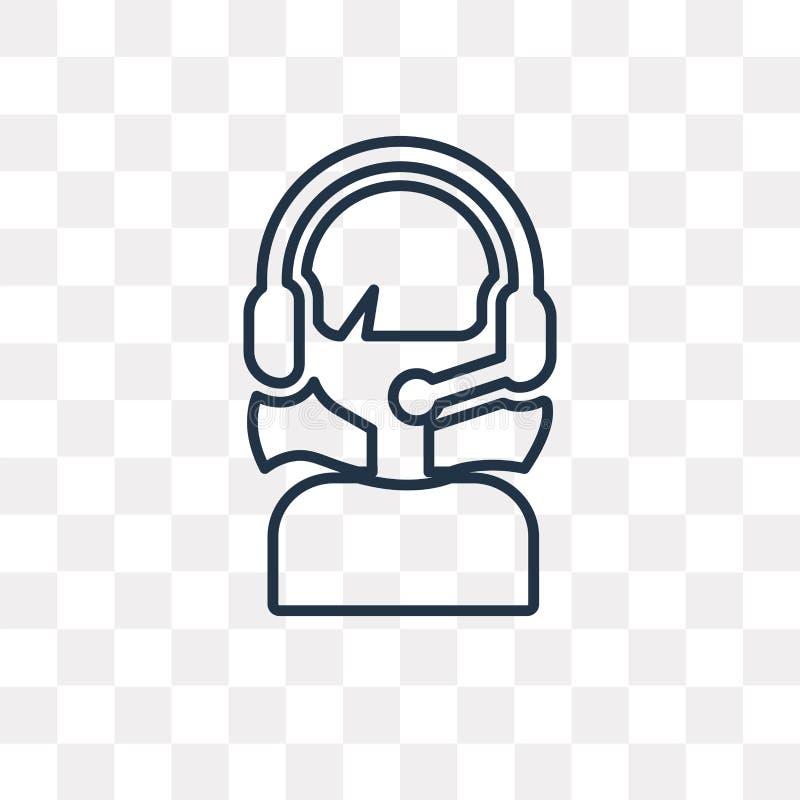 Admin wektorowa ikona odizolowywająca na przejrzystym tle, liniowy Adm royalty ilustracja
