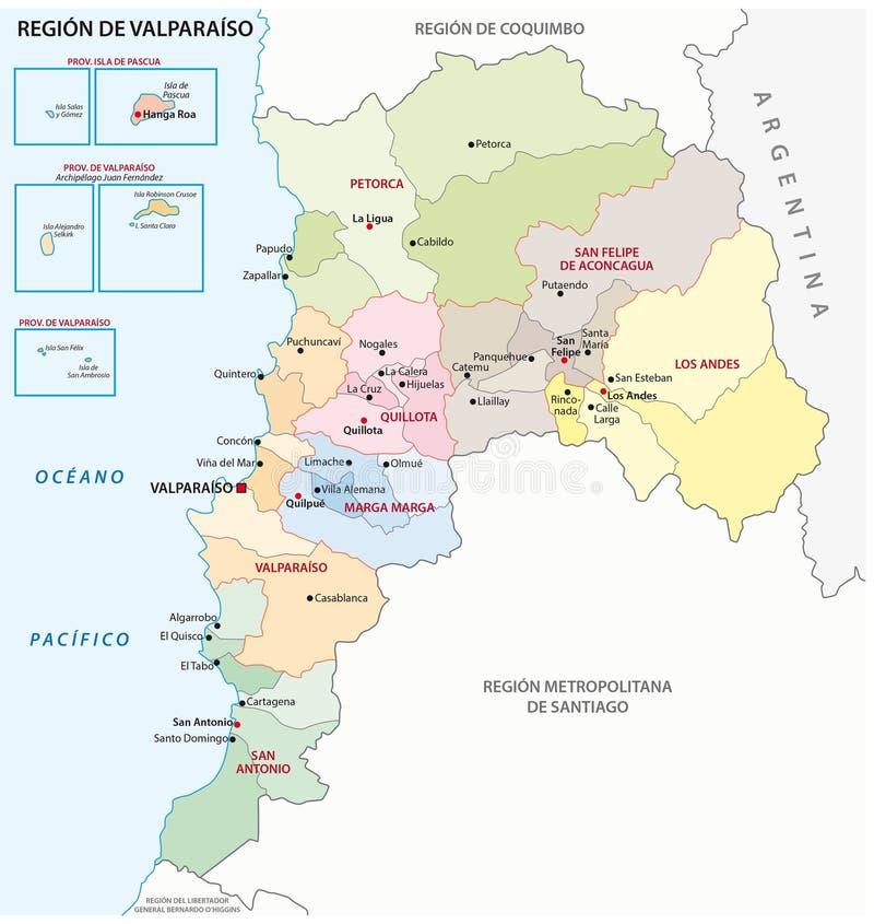 Admininistrative Karte Valparaiso vektor abbildung