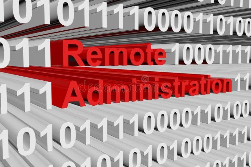 A administração remota ilustração stock