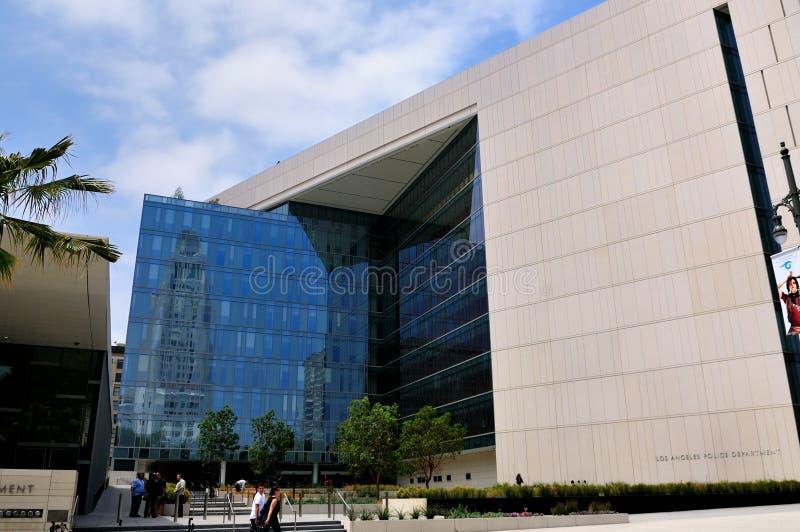 administraci Angeles budynku los policja zdjęcia stock