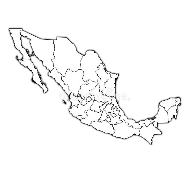 Administraci mapa Meksyk royalty ilustracja