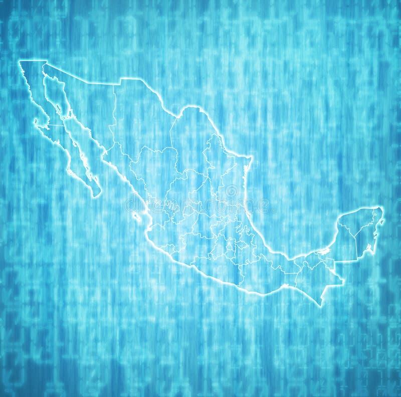 Administraci mapa Meksyk ilustracji