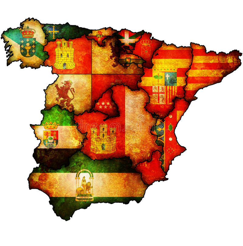 Administraci mapa Spain ilustracji