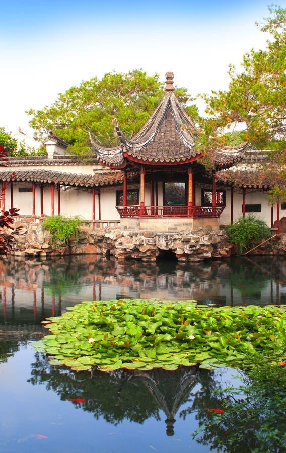 administratörporslinträdgård ödmjukt s suzhou royaltyfri fotografi