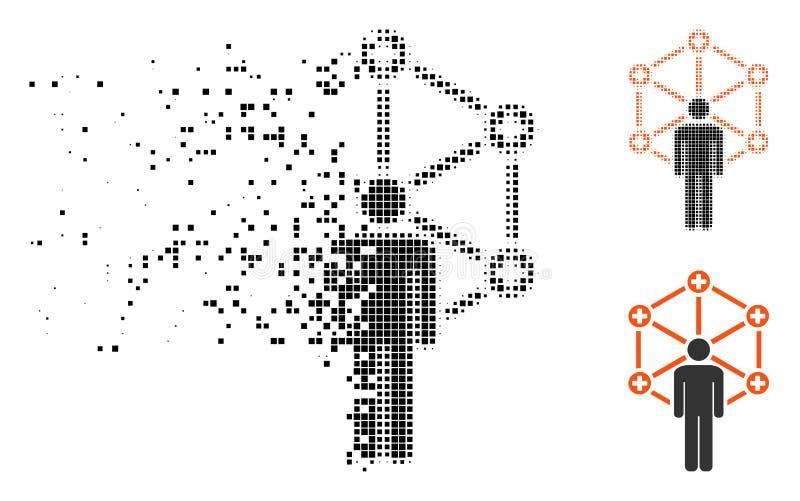 Administrateur réseau médical tramé pointillé dispersé Icon illustration libre de droits