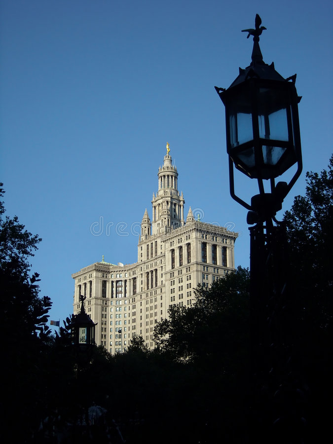 Administration Building, NYC USA. Administration Building, New York City, across the street from City Hall stock photo