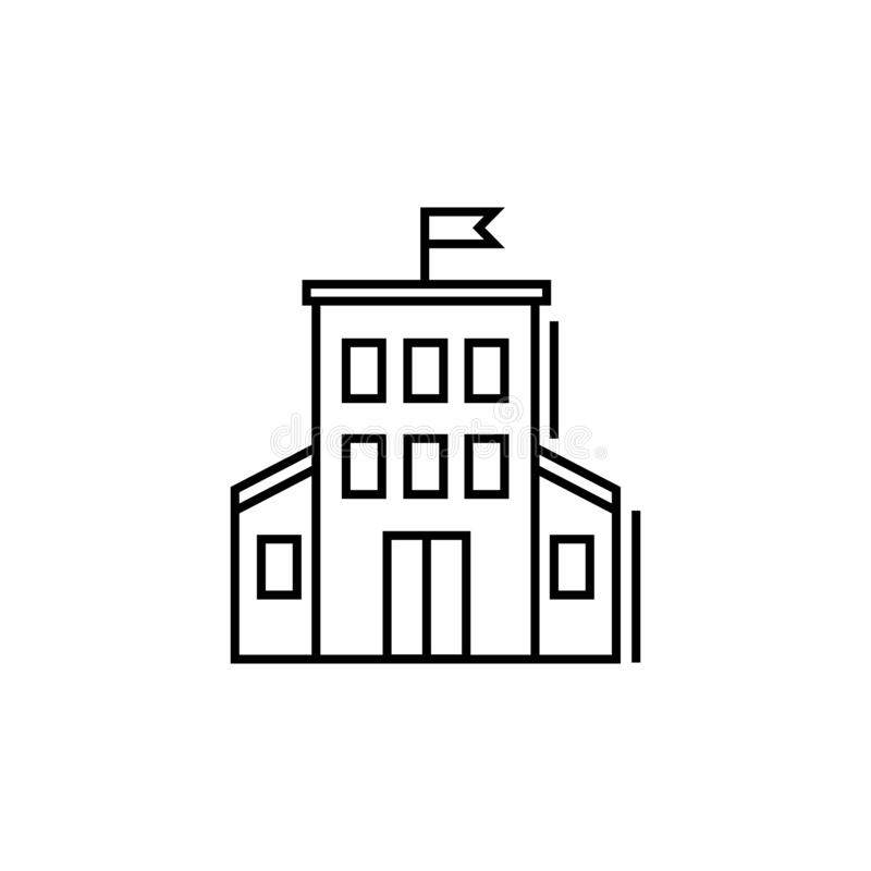Administration building vector icon royalty free illustration