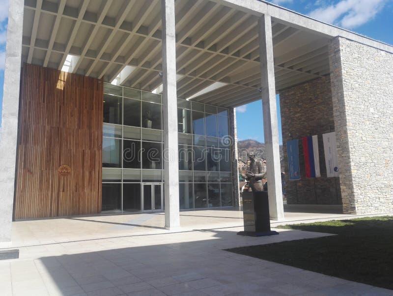 Administrativ byggnad av HONOM Visegrad royaltyfri foto