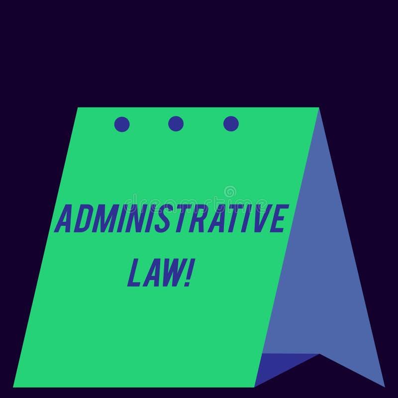 Administrativ lag f?r handskrifttext Begreppsbetydelsekropp av regelreglementebeställningar som skapas av en modern regering stock illustrationer