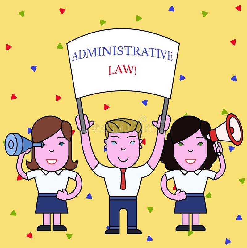Administrativ lag f?r handskrifttext Begreppsbetydelsekropp av regelreglementebeställningar som skapas av ett regeringfolk stock illustrationer