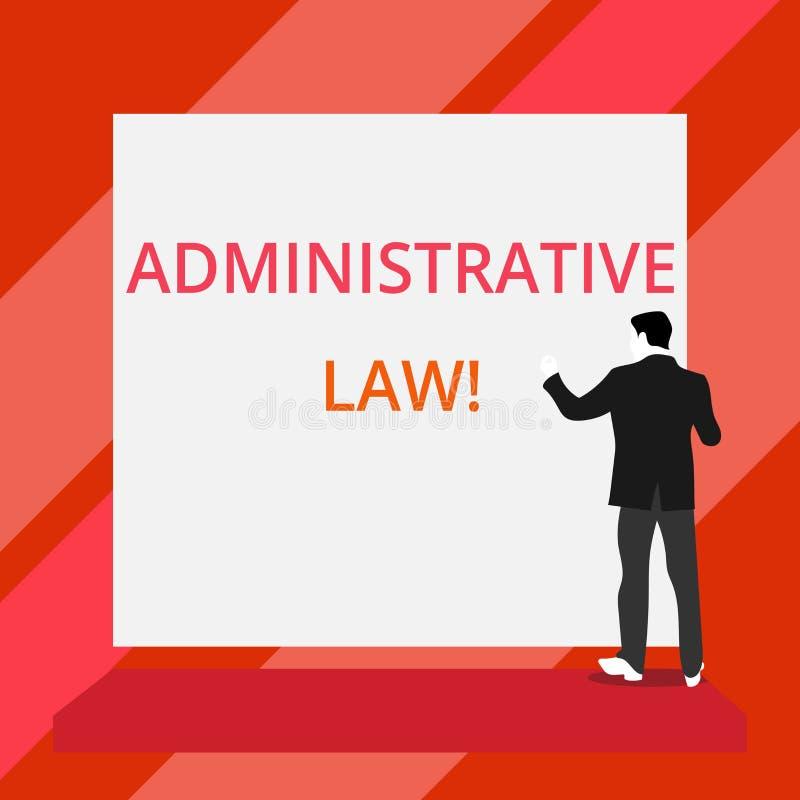 Administrativ lag f?r ordhandstiltext Affärsidé för kropp av regelreglementebeställningar som tillbaka skapas av en regering royaltyfri illustrationer