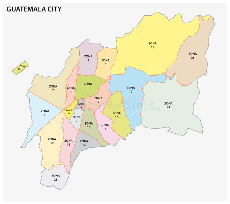 Administrative political map of the guatemalan capital guatemala download administrative political map of the guatemalan capital guatemala city stock vector illustration of central gumiabroncs Gallery
