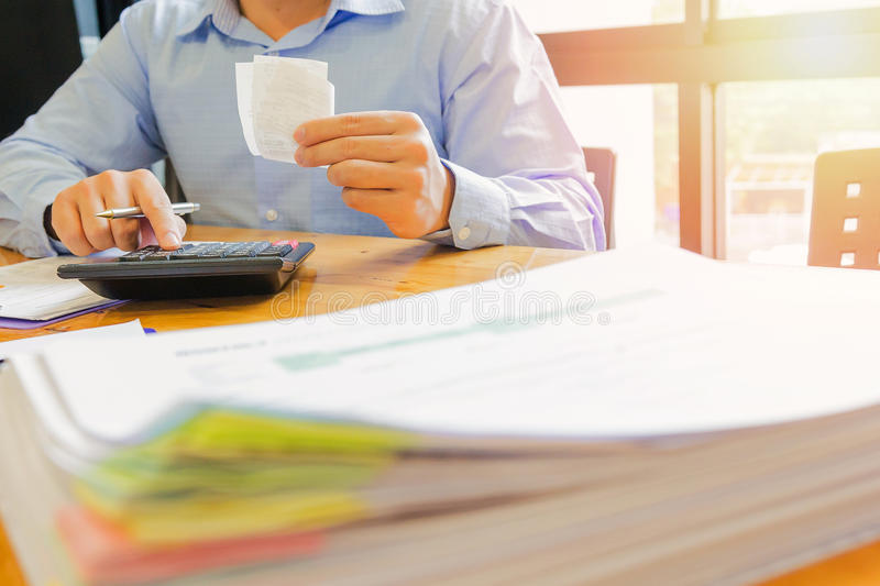 Administrator business man financial inspector and secretary making report. Administrator business man financial inspector and secretary making report stock photo