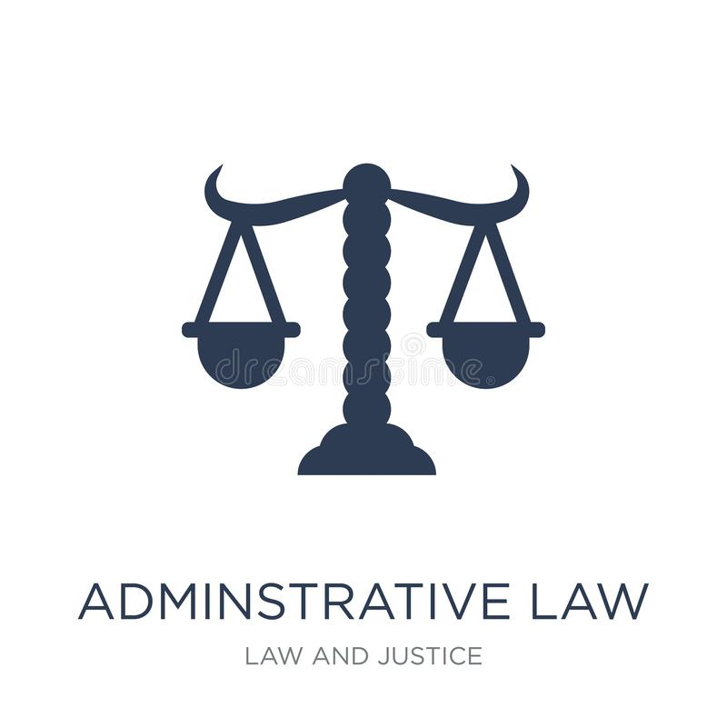 adminstrative law icon. Trendy flat vector adminstrative law icon on white background from law and justice collection royalty free illustration