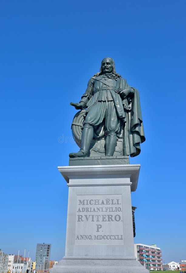 Admiraal in Nederland Michiel de Ruyter stock afbeelding