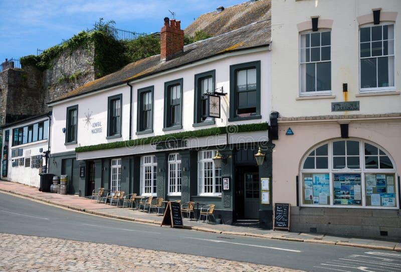 Admiral Macbride pub w Plymouth barbakan, Devon, Zjednoczone Królestwo, Maj 23, 2018 obrazy stock