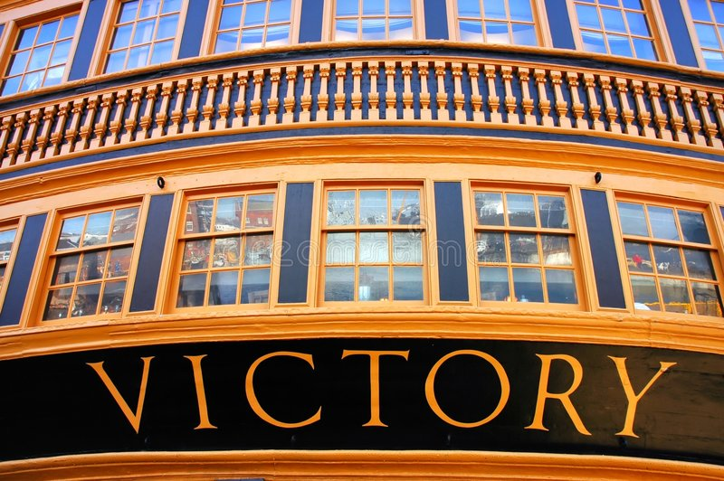 Admiral Nelson's flagship H.M.S. Victory royalty free stock photo