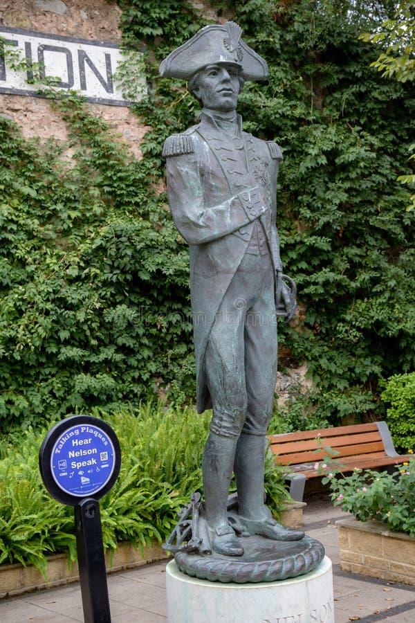 Admiral Nelson statua fotografia stock