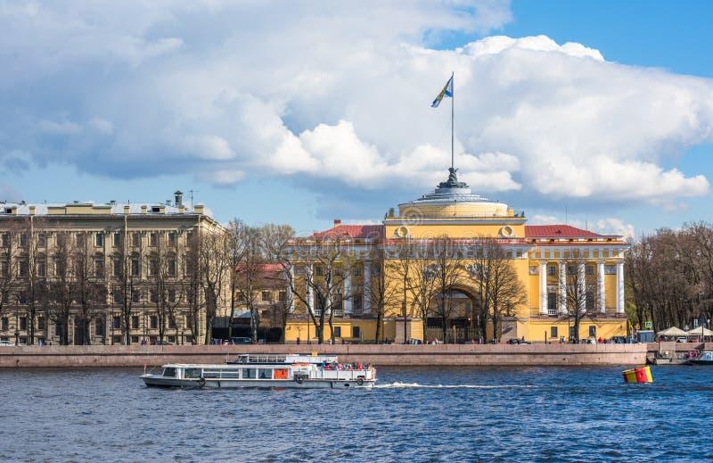 Admiralicja budynek, święty Petersburg, Rosja zdjęcie royalty free