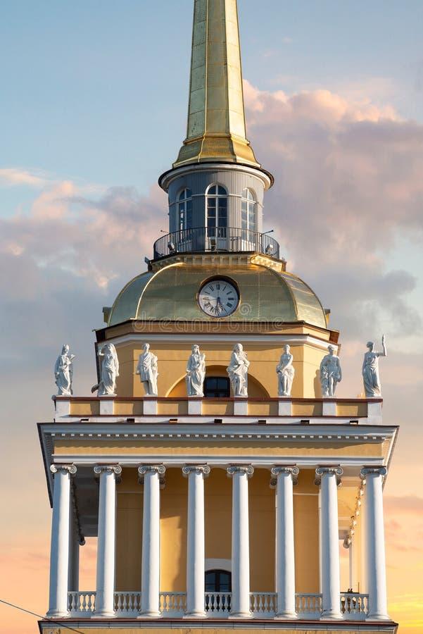 Admiralicja w Petersburgu fotografia royalty free