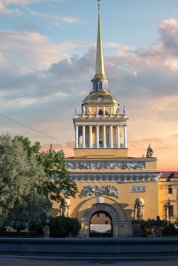 Admiralty in St. Petersburg. The Russian Federation royalty free stock photography