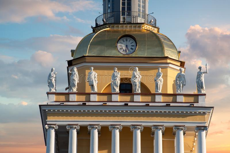 Admiralty in St. Petersburg. The Russian Federation stock photography