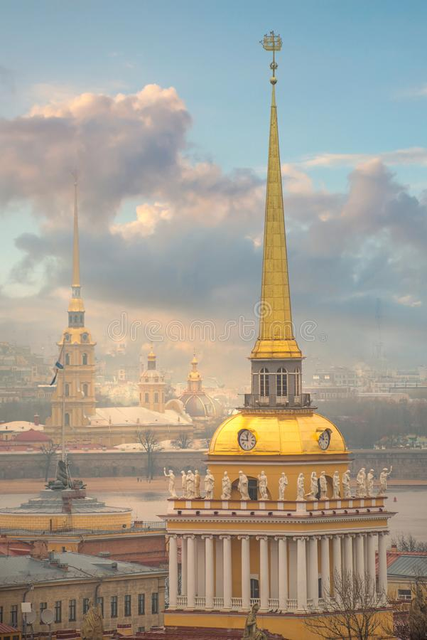 Admiralty in St. Petersburg. The Russian Federation stock images