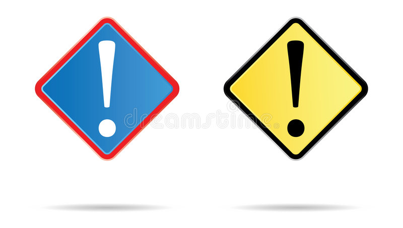 Admiration road sign. In blue and yellow stock illustration